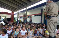 PM ministra palestra sobre o trânsito para crianças em Entre Folhas