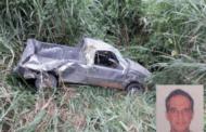 Motorista morre após picape cair em ribanceira