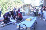 Simulação de resgate é destaque em aula prática
